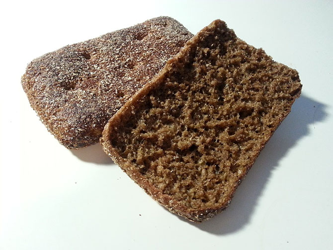 Dark rye bread is common in the Nordic table.